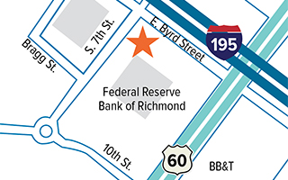 Map showing location of The Fed Experience