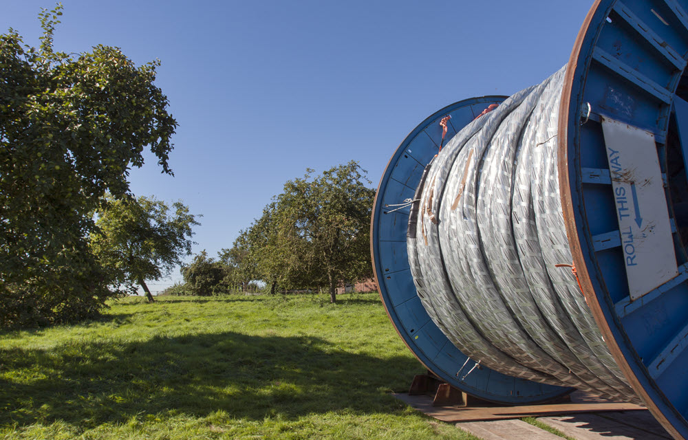 A giant roll of cable