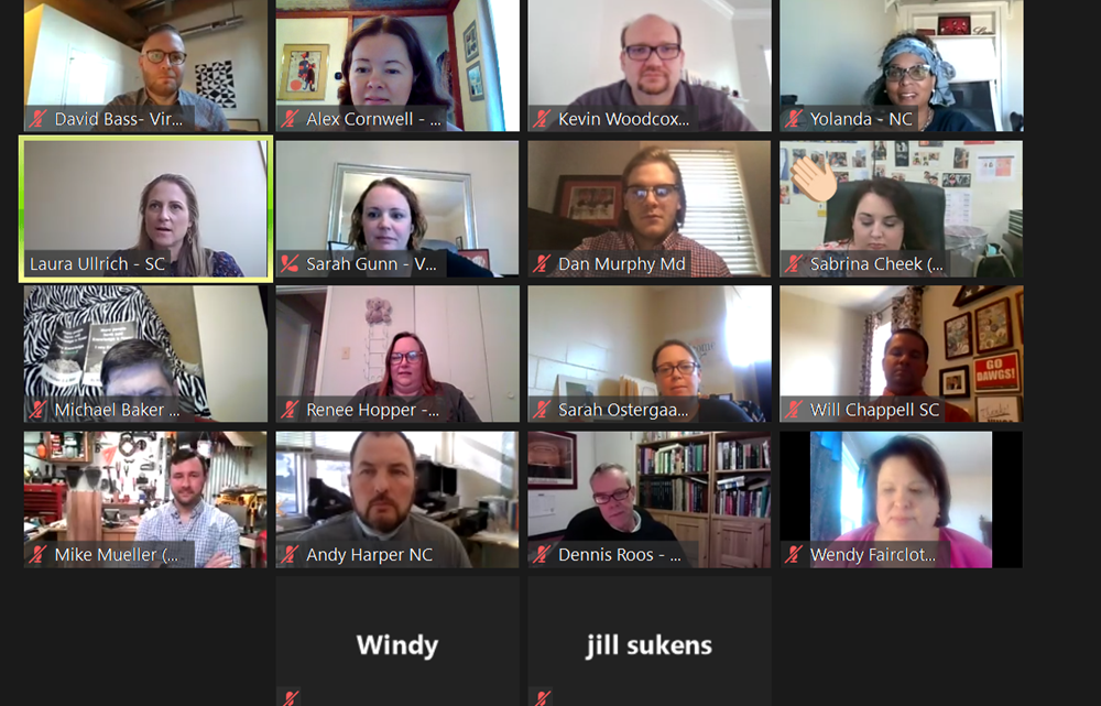 Screenshot of the February Zoom TCC meeting