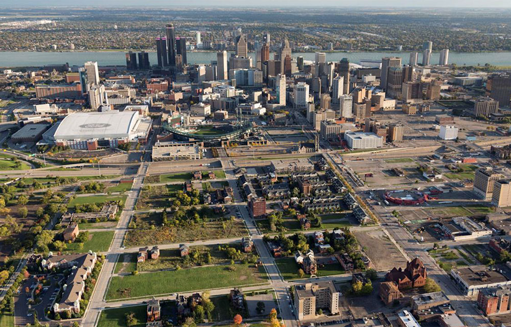 a view of Detroit, Michigan