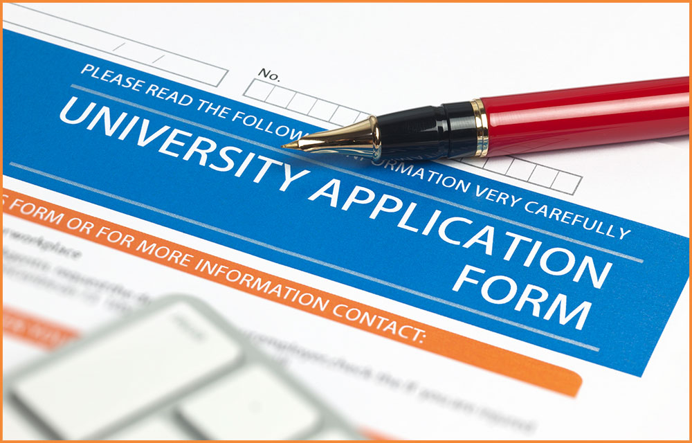 picture of a University Application Form