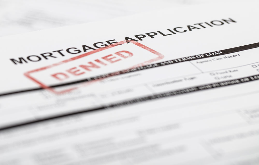 a mortgage application stamped Denied