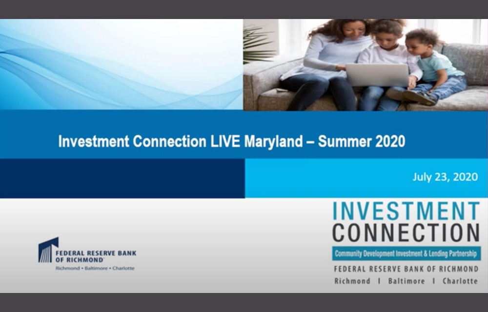 Investment Connection Live Event presentation screenshot July 23, 2020