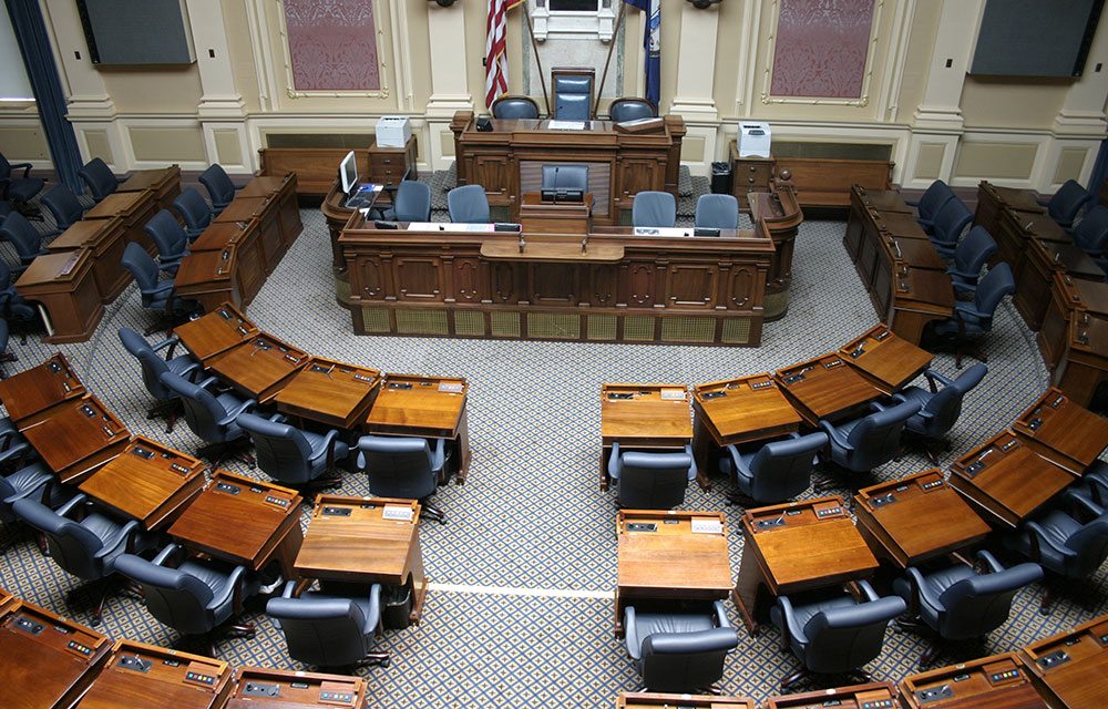 view of a state legislature